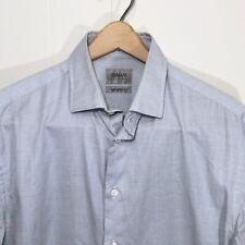 Armani Collezioni Modern Fit Pinpoint Gray Dress Shirt Men's Size 15 1/2 39