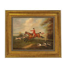 Fox Hunting Scene by J.N. Sartorius Framed Oil Painting Print on Canvas