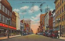 Postcard Main Street Evansville Indiana IN