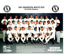 1991 SARASOTA WHITE SOX 8X10 TEAM PHOTO CHICAGO PETE ROSE