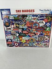 White Mountain Ski Badges Jigsaw Puzzle 1000 Pieces #1191 Made In USA Resort Ski