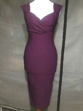 Pinup Couture By Pinup Girl Clothing Erin Dress In Plum Size XS