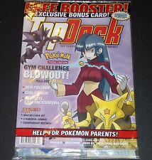 Sealed TOP DECK Magazine Brock's Vulpix W Pokemon Card No. 13