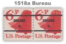 1518a Bell 6.3c Untagged CHICAGO IL Bureau Precancel Pair 1974 MNH - Buy Now
