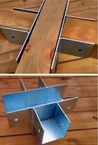 Holzverbinder  5-Wege aus Stahl verzinkt Pfostenverbinder für Pfosten 9x9 -12x12
