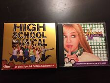HIGH SCHOOL MUSICAL 2-DISC SPECIAL (Rare) & HANNAH MONTANA CD Like New