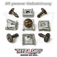 5x protección del motor bajo protección de conducción metal clips VW AUDI Passat skoda klip nuevo