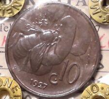 REGNO D'ITALIA V.E.III 10 CENTESIMI 1927 APE fdc rosso periziato