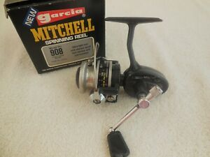 VINTAGE GARCIA MITCHELL  908  SPINNING REEL & BOX  MADE IN FRANCE