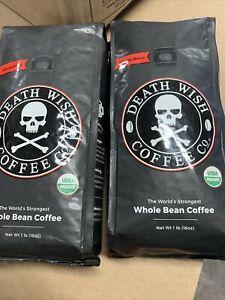 2/1 Pound Death Wish Whole Bean Coffee 1/24/21 PLEASE READ DESCRIPTION