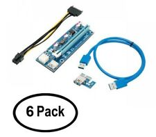 6-Pack - Rosewill RCRC-17001 PCI-e (PCI Express) 16x To 1x Riser Cable Adapter