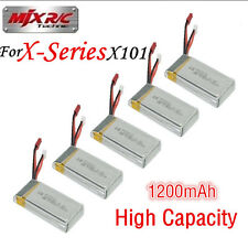5x 7.4V 1200mAh Lipo Spare Battery For MJX X101 Quad Copter RC Drone Helicopter