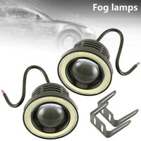 2x 3'' LED Universal Car Angel Eyes Fog Lights Halo Rings Off Road Light Round