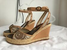fcec67fa KENZO Rare Vintage Ankle Strap Wedge Espadrilles NEW Made in Spain US 6 EU  36