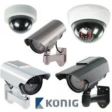 KÖNIG Kamera Attrappe Dummy CCTV LED Kameraatrappe Webcam Camera - 10 MODELLE