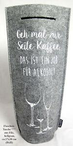 Getränke Flaschentasche aus Filz mit Griff, hellgrau ca. 38x17 cm (HxB)