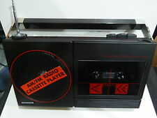 VINTAGE CASSETTE RADIO AM(MW)-FM MODEL EUROSOUND 1970S WITH BOX