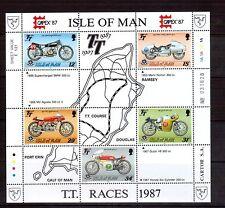ISLE OF MAN 1987 Motorcycle M/S MUH