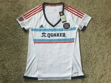MLS Women's Replica Short Sleeve Team Jersey Sz M Chicago Fire Scarlet Quaker