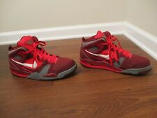 Used Worn Size 11 Nike Air Flight Falcon Shoes Maroon, Red, Gray, White