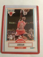 (Michael Jordan) Chicago Bulls 1990 - 1991 Fleer * #26 *Basketball Card