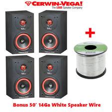 Two Pair 4 Cerwin Vega SL-5M Bookshelf Speakers 5 1/4