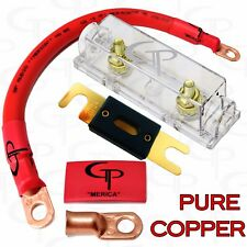 200 AMP ANL Fuse Holder INLINE Block BATTERY INSTALL KIT 1/0 AWG GAUGE COPPER R