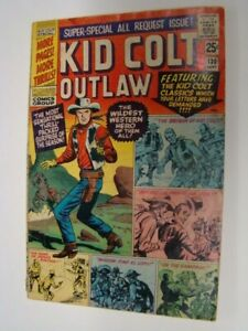 1966 Kid Colt Outlaw #130 Origin Issue 68 Pages VG