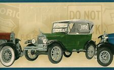 Old Classic Vintage Cars Automobile Ford Cadillac Wallpaper Border PT018182B