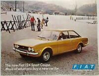 1970 Fiat 124 Sport Coupe Spec Sheet