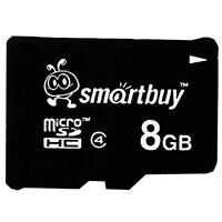 Smartbuy 8GB MicroSDHC 8 GB C4 MicroSD Micro SD HC Class 4 TF Flash Memory Card