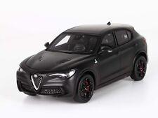 BBR Alfa Romeo Stelvio Quadrifoglio Nero opaco ruote Nero lucido 1:43 bbrc 200mb