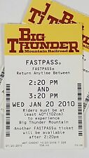 Disney FASTPASS Walt Disney World Fast Pass Ticket BIG THUNDER MOUNTAIN 2:20