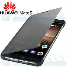 Smart Cover View ORIGINALE X HUAWEI MATE 9 Custodia Sense Touch Slim Pelle NERA