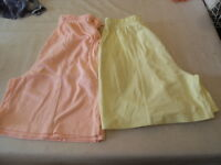 two pairs ladies shorts size S/M by south lodge