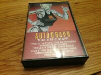 "Autograph ""That's the Stuff"" Cassette Tape Hard Rock"