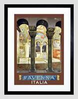 TRAVEL RAVENNA ITALY MOSAIC BYZANTINE ITALY VINTAGE FRAMED ART PRINT B12X047