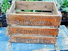 More details for vintage schweppes wooden crate