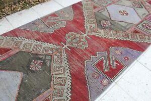 """Vintage Handmade Turkish Oushak Runner Rug 103""""x37"""""""