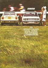Fiat 128 Sport Coupes 1100SL 1300SL UK Market Brochure 1972 12 Pages # 50m/10/72
