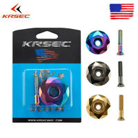 MTB/Road Bike Bowl Cover+Bolt Titanium-plated 28.6mm Headset Top Cap Ultralight