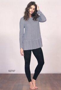 Pajamas Crew-Neck Woman Long Sleeve Viscose Linclalor Art. 02747