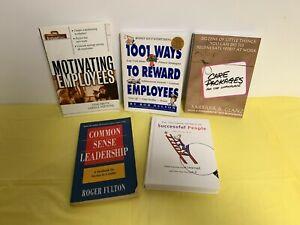 lot of 5 Leadership books/Common Sense/Care Packages/Rewards/Motivating/Secrets