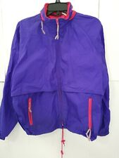 Woolrich Woman Medium Blueberry Rain Jacket Thin Hooded Adorable Vintage