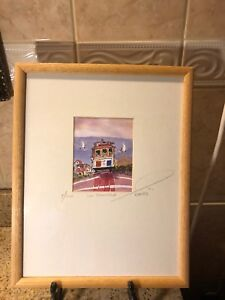 "Limited Edition 1997 ""San Francisco"" Watercolor Signed EDUARDO GUZMAN 4/500"