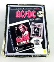 Playstation 3 ACDC Live Black Ice Fan Pack Game T-Shirt DVD PS 3 Sealed NEW