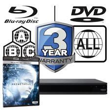 Sony UBP-X800 All Zone MultiRegion 4K Ultra HD Blu-ray Player & Prometheus