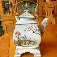 Vtg. Franklin Mint Fp Teapot The Birds And Flowers Of The Orient 1986 Malaysia