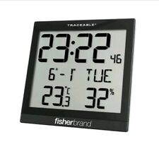 Digital Radio Big Digit Radio Atomic Wall Clock Fisher Scientific 1076