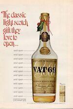 1965 VAT 69 Scotch Whisky Vintage Bottle  PRINT AD
